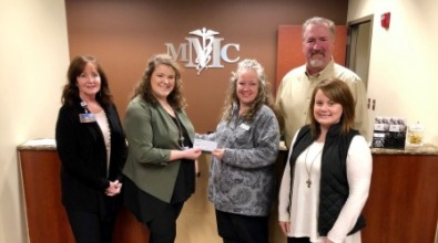 Possibility Place presented with check from MMC